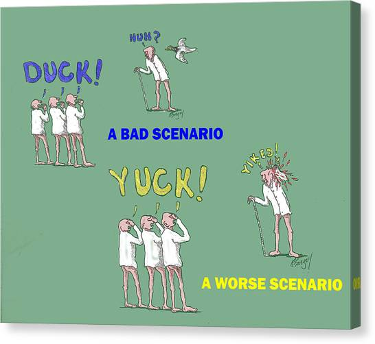 Duck Yuck Canvas Print