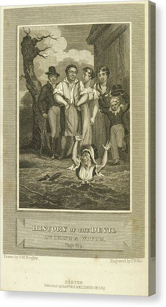Political Science Canvas Print - Ducking A Witch by British Library