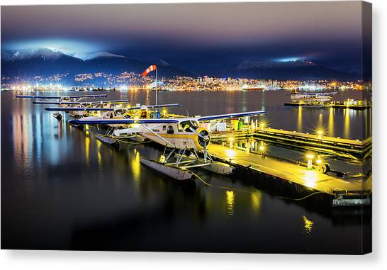 Vancouver Canvas Print - Ducks In A Row by Alexis Birkill