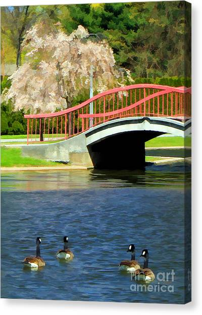 Springtime On The Lake Canvas Print