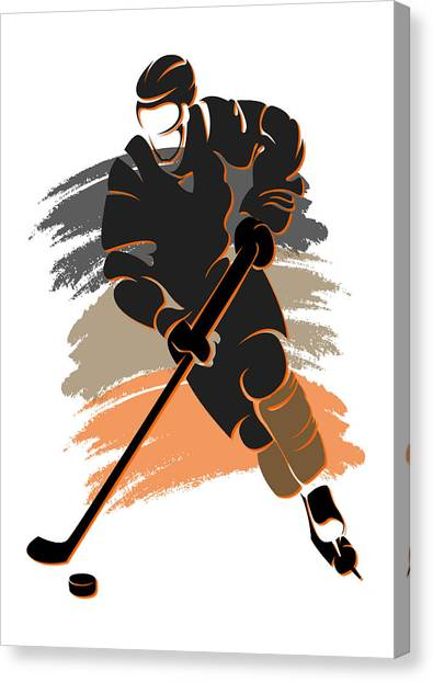 Anaheim Ducks Canvas Print - Ducks Shadow Player2 by Joe Hamilton