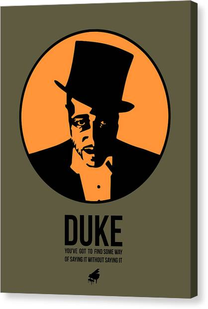 Duke University Canvas Print - Dude Poster 3 by Naxart Studio