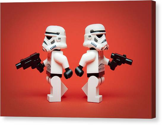 Figure Canvas Print - Dueling Troopers by Samuel Whitton
