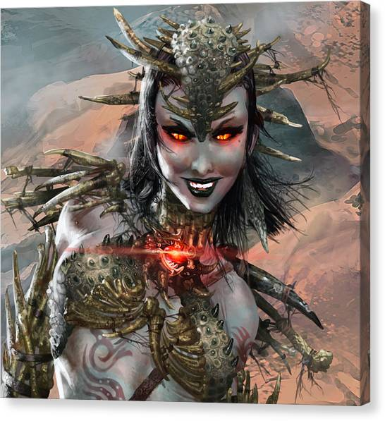 Duels Of The Planeswalkers 2014 Persona Ten Canvas Print