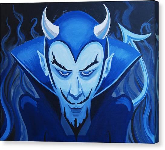 Devil Who Is Blue Canvas Print