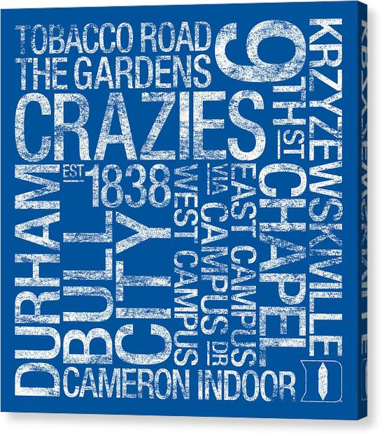 Tobacco Canvas Print - Duke College Colors Subway Art by Replay Photos