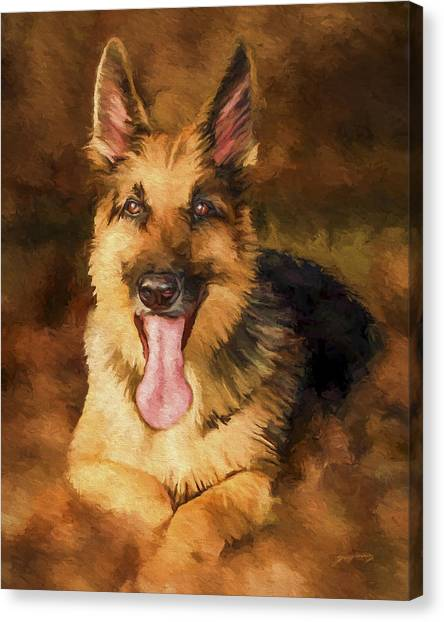 German Shepherd Canvas Print - Duke by David Wagner