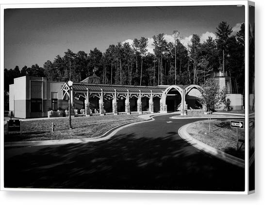 James Madison University Jmu Canvas Print - Duke In Bw by Georgia Fowler