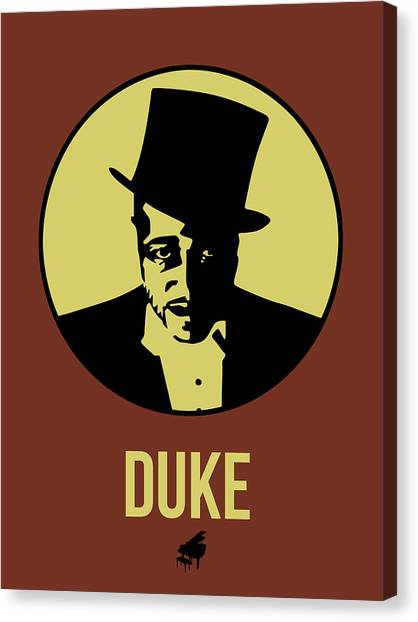 Duke University Canvas Print - Duke Poster 1 by Naxart Studio