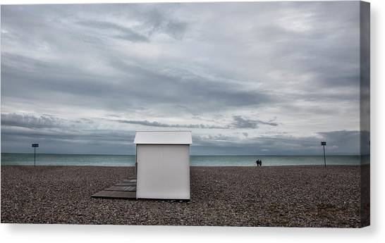 Beach Cabin Canvas Print - Dull Days Are nature's Softbox (series: 2) by Yvette Depaepe