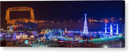 Duluth Christmas Lights Canvas Print
