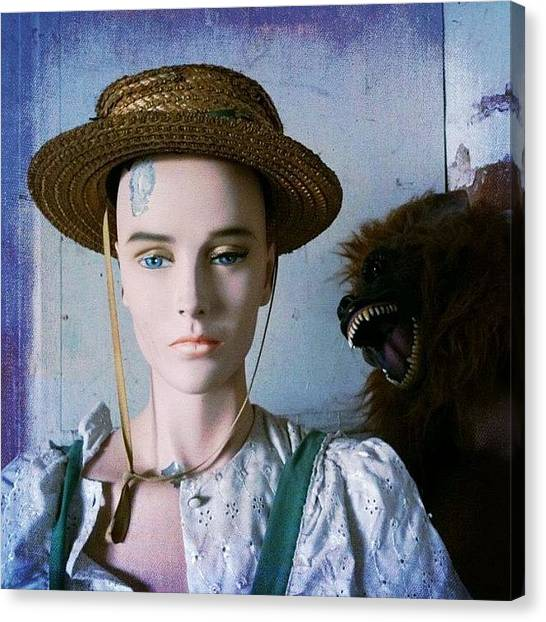 Apes Canvas Print - #dummy #mannequin #model by Enoch Soames