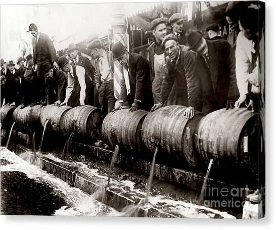 Vintage Chicago Canvas Print - Dump The Beer by Jon Neidert