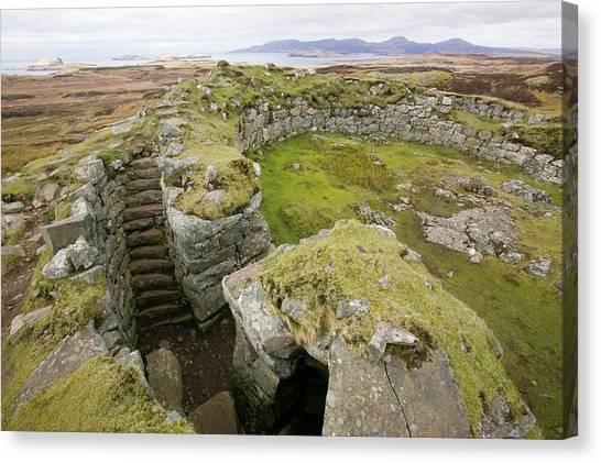 Briton Canvas Print - Dun Beag Broch On The Isle Of Skye by Ashley Cooper