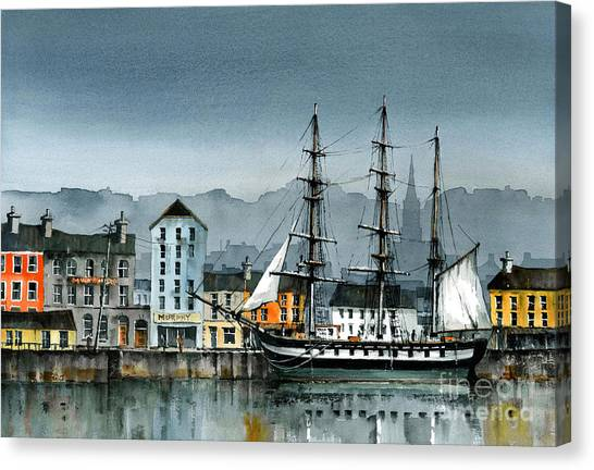 Dunbrody Famine Ship  In New Ross Canvas Print