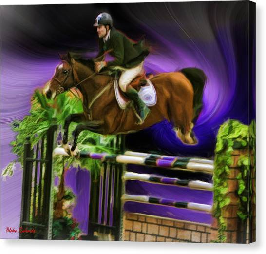 Duncan Mcfarlane On Horse Mr Whoopy Canvas Print
