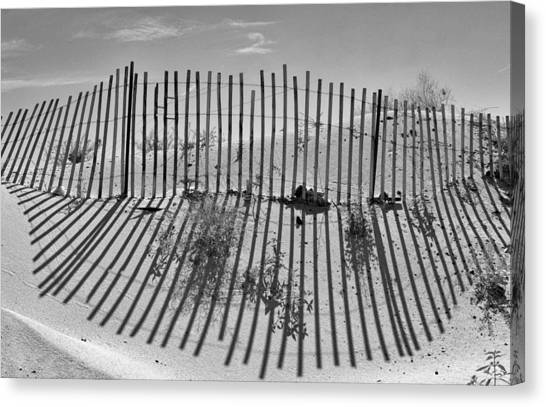 Border Wall Canvas Print - Dune Builder Bw by Scott Campbell