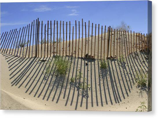 Border Wall Canvas Print - Dune Builder by Scott Campbell