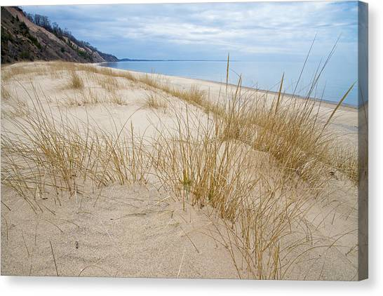 Dune Grass On Lake Michigan Canvas Print