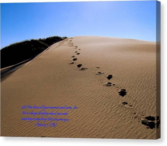 Dune Walk W/scripture Canvas Print