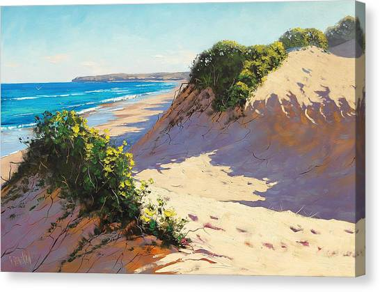 Beach Artwork Canvas Print - Dunes Central Coast by Graham Gercken