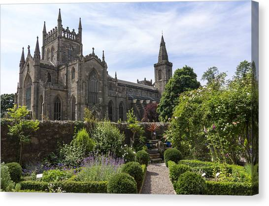 Dunfermline Abbey From The Abbot House Canvas Print