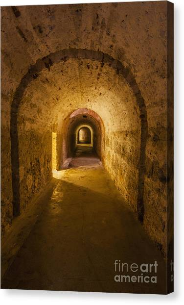 Canvas Print featuring the photograph Dungeon At Castillo San Cristobal In Old San Juan Puerto Rico by Bryan Mullennix