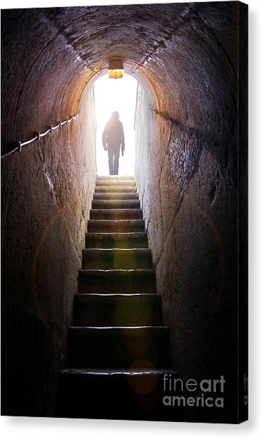 Dungeon Canvas Print - Dungeon Exit by Carlos Caetano