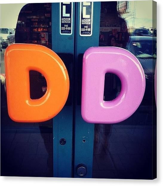 Doughnuts Canvas Print - #dunkindoughnuts #double #d's #vegas by Eddie Mendez