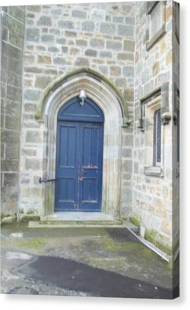 Dunlop Kirk Arched Doorway Canvas Print