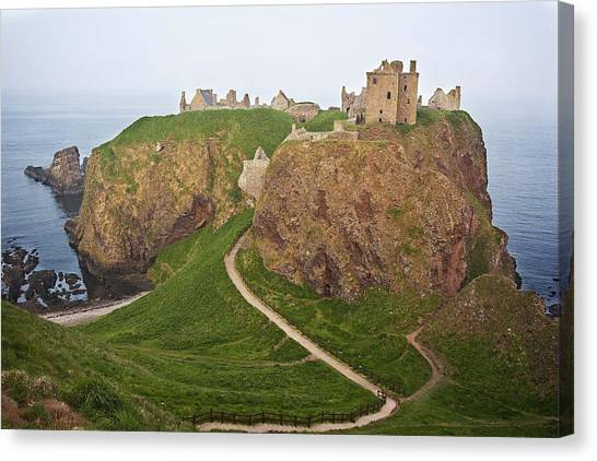 Canvas Print featuring the photograph Dunnottar Castle Scotland by Georgi Djadjarov