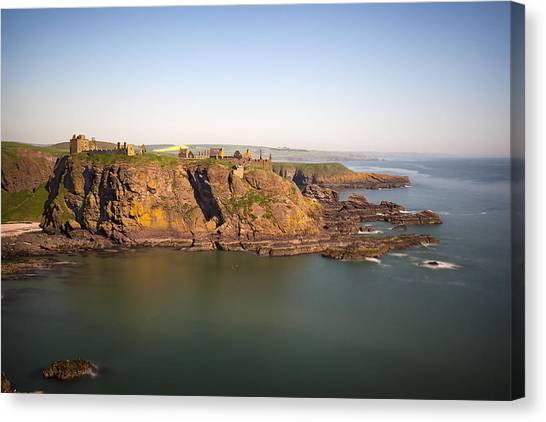 Canvas Print featuring the photograph Dunnottar Castle Stonehaven by Georgi Djadjarov