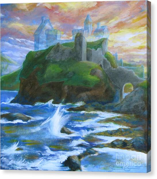 Dunscaith Castle - Shadows Of The Past Canvas Print