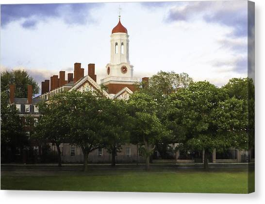 Al Gore Canvas Print - Dunster House Harvard University by Kate Hannon