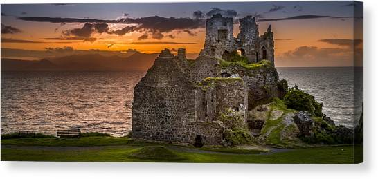 Dunure Castle Ayrshire Scotland Canvas Print
