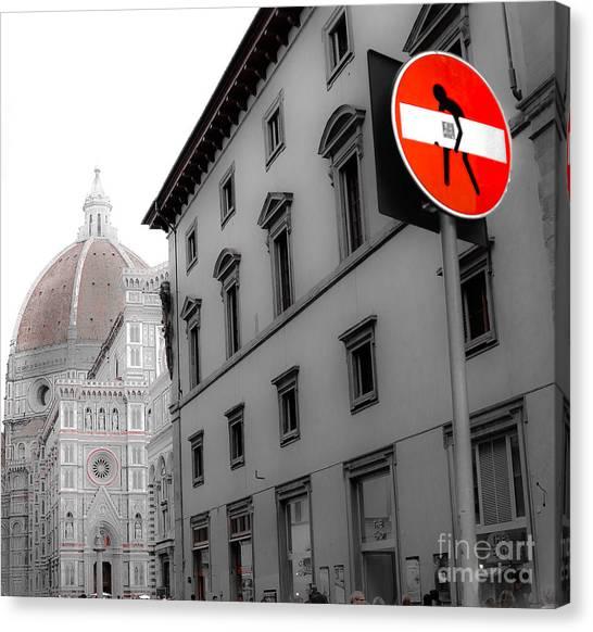 Duomo And Street Humor Canvas Print
