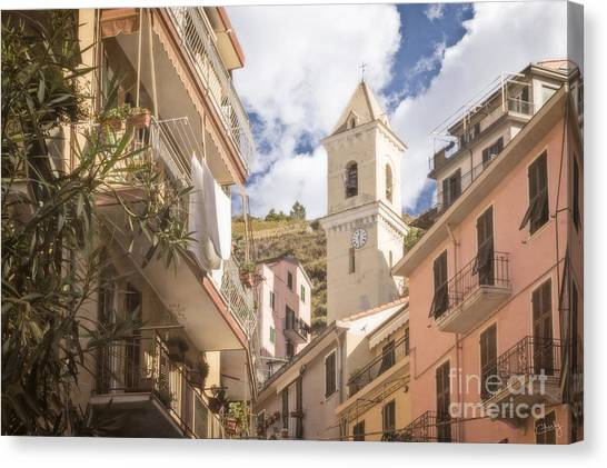 Duomo Bell Tower Of Manarola Canvas Print