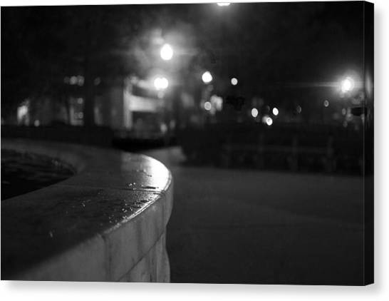 Dupont Circle Fountain Side Canvas Print by Michael Williams