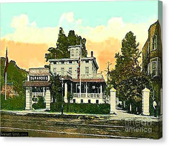 Durando's Tavern In Yonkers N Y In 1915 Canvas Print by Dwight Goss