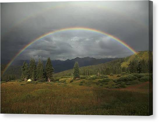 Durango Double Rainbow Canvas Print