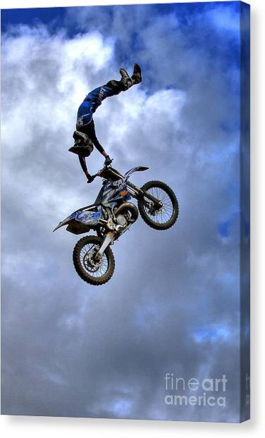 Motocross Canvas Print - Durhamtown And Ray Flying High by Reid Callaway