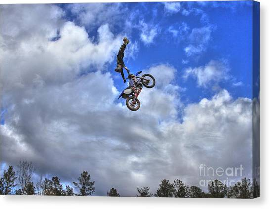 Motocross Canvas Print - Durhamtown Plantation And Scotty Too High by Reid Callaway