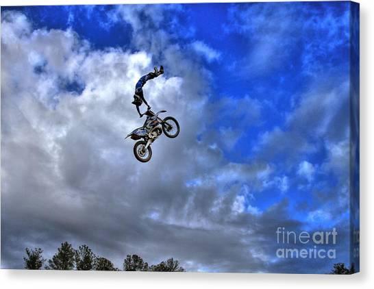 Motocross Canvas Print - Durhamtown Plantation Ray Bennett Flying High2 by Reid Callaway