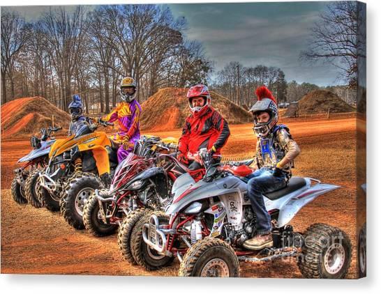 Motocross Canvas Print - Durhamtown Platation Family Fun by Reid Callaway