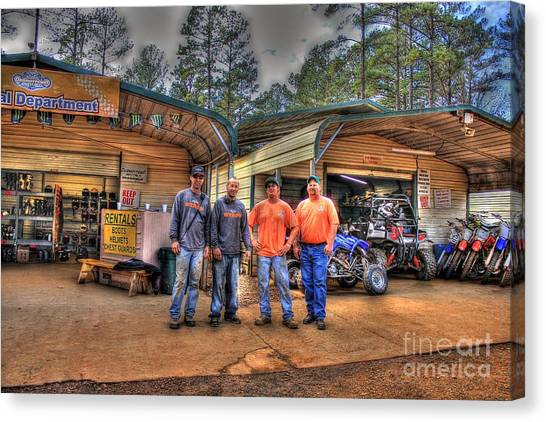 Motocross Canvas Print - Durhamtown Proshop And The Experts by Reid Callaway