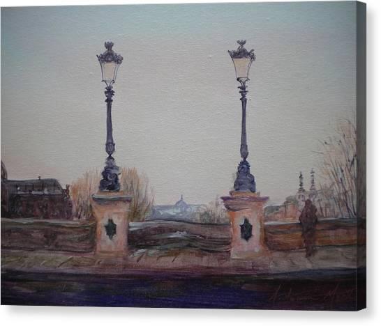 Parisian Canvas Print - Dusk, 2010 Oil On Canvas by Antonia Myatt