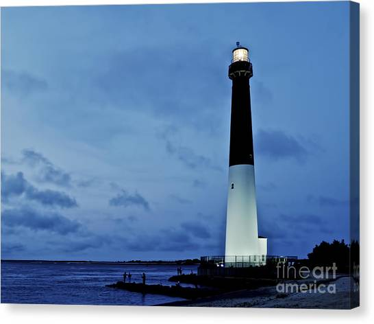 Dusk At Barnegat Lighthouse Canvas Print