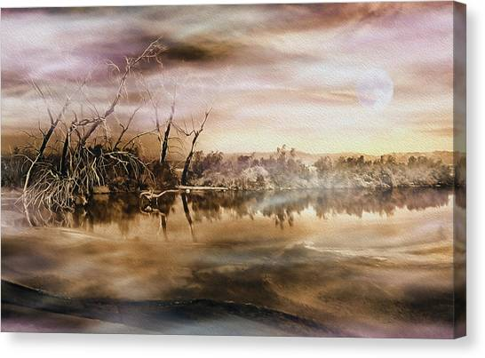 Dusk At The Pond Canvas Print