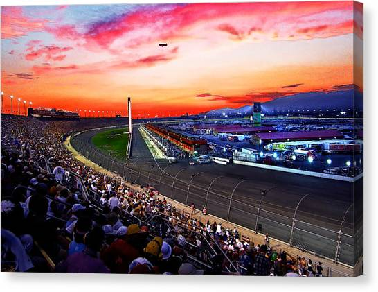 Dusk At The Racetrack Canvas Print