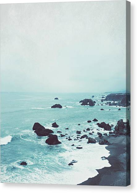 Beach Canvas Print - Dusk At The Sea by Lupen  Grainne